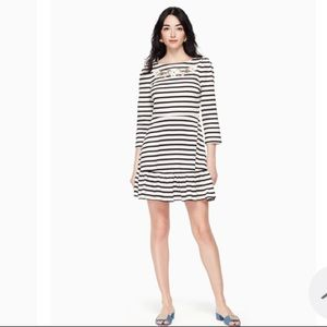 Kate Spade Striped Fit & Flare w/ Embroidery. XS